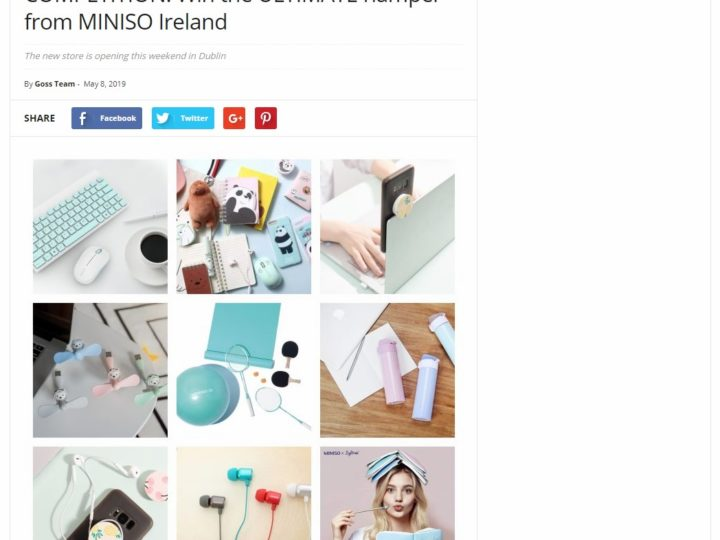 MINISO on Goss.ie