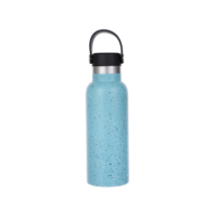 Steel Tumbler with Silicone Handle 500ml - Green