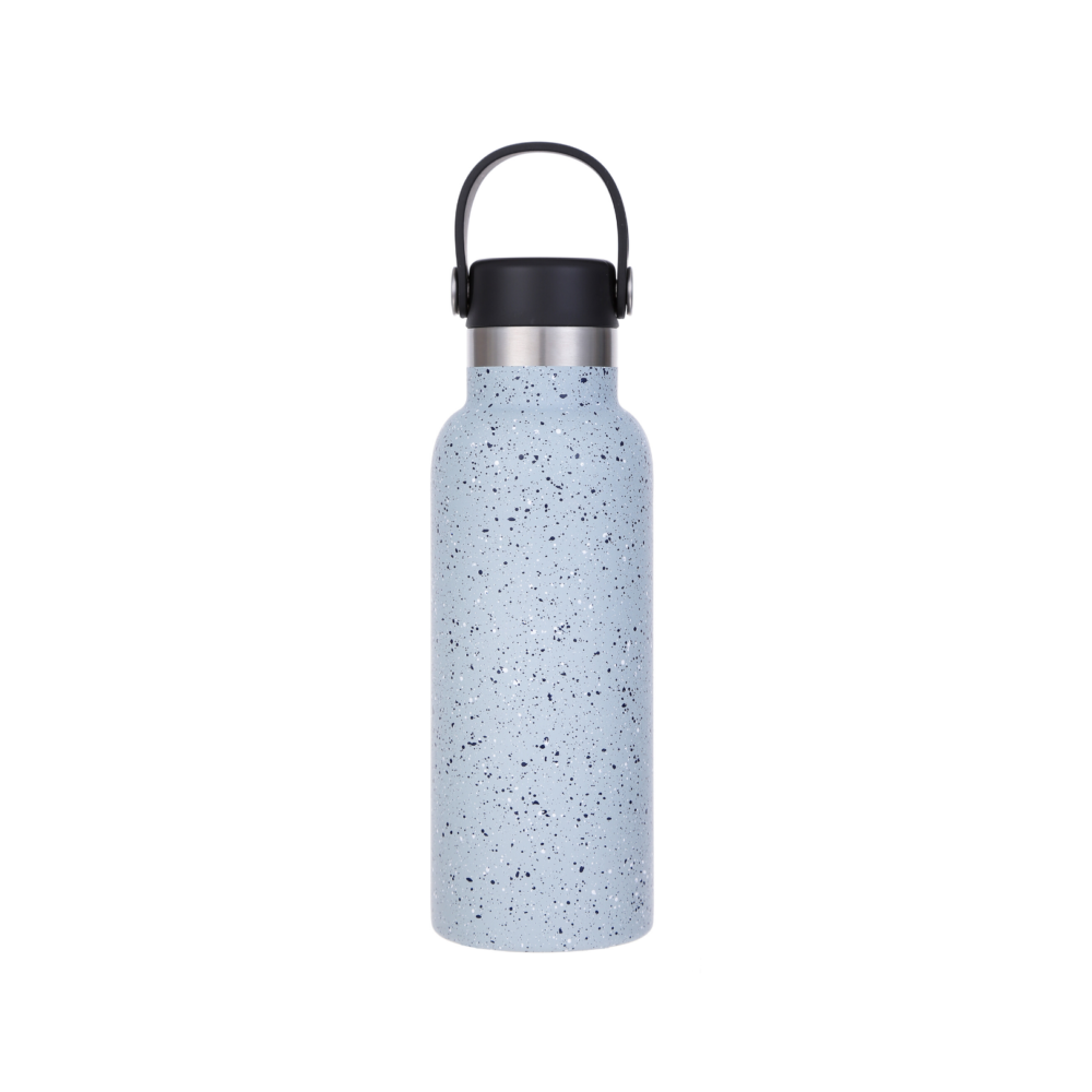 Steel Tumbler with Silicone Handle 500ml - Light Blue