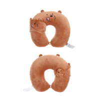 We Bare Bears U-shaped Neck Pillow With Eye Mask