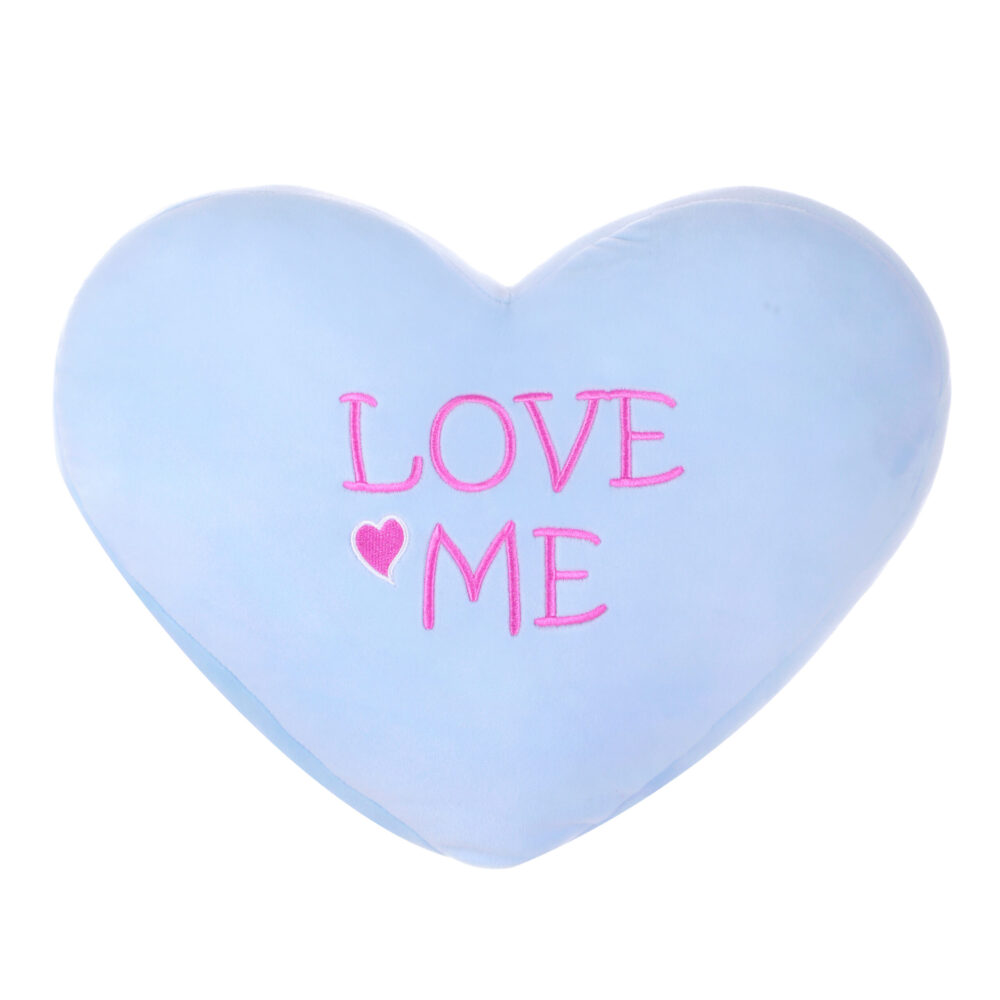 Heart Shaped Cushion Blue