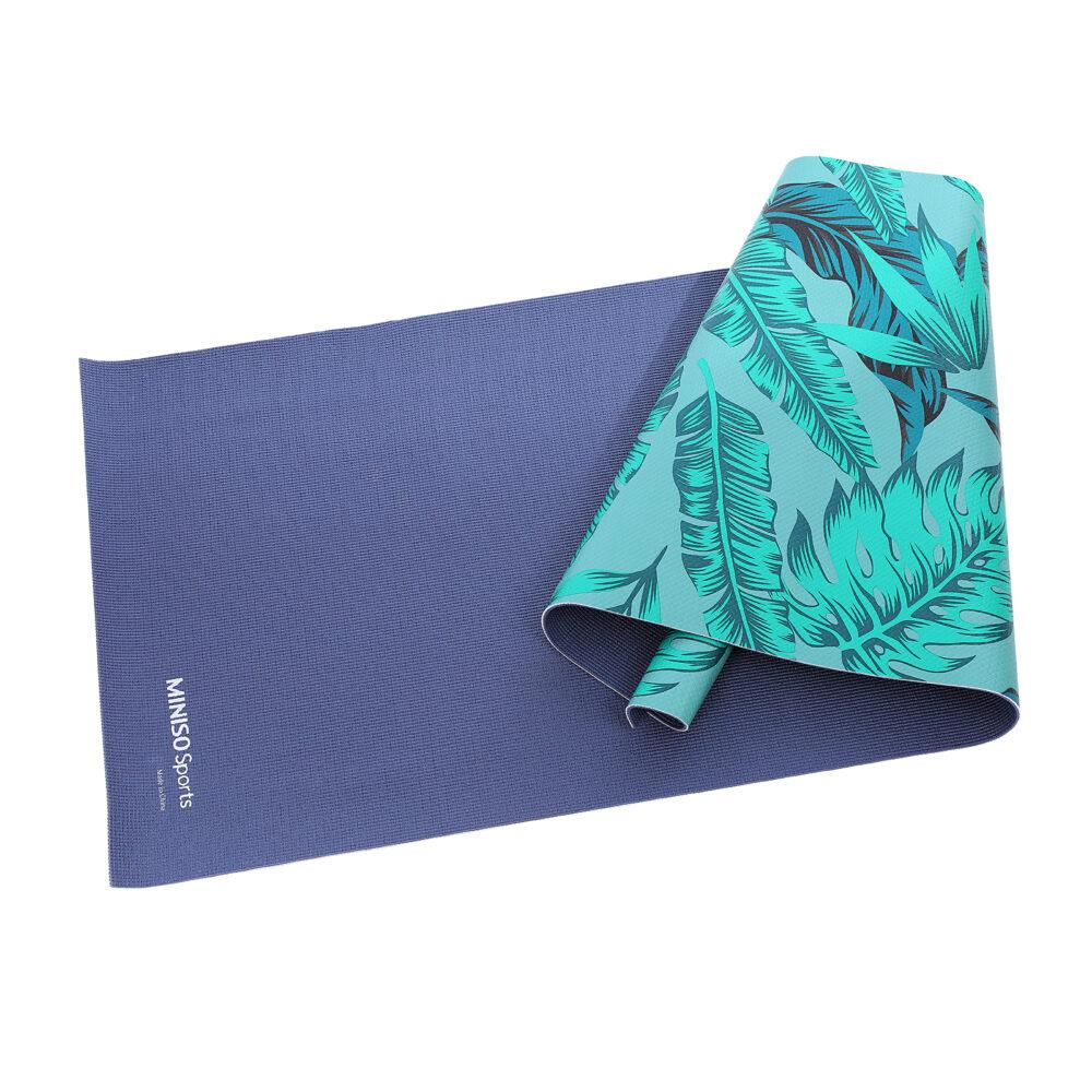 MINISO Sports Yoga Mat -Green Leaves