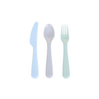 Colorful Eco-friendly Cutlery Set 18 Pack-Knife+Fork+Spoon