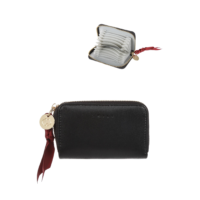 SMILE Zipper Card Holder