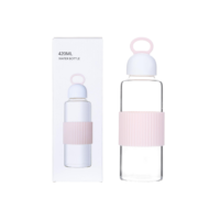Portable High Borosilicate Glass Water Bottle