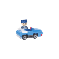 Block Series Police Patrol Car