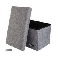 Foldable Storage Stool-Gray