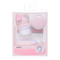 Soft exfoliating cleansing brush - includes holder&silicone brush head