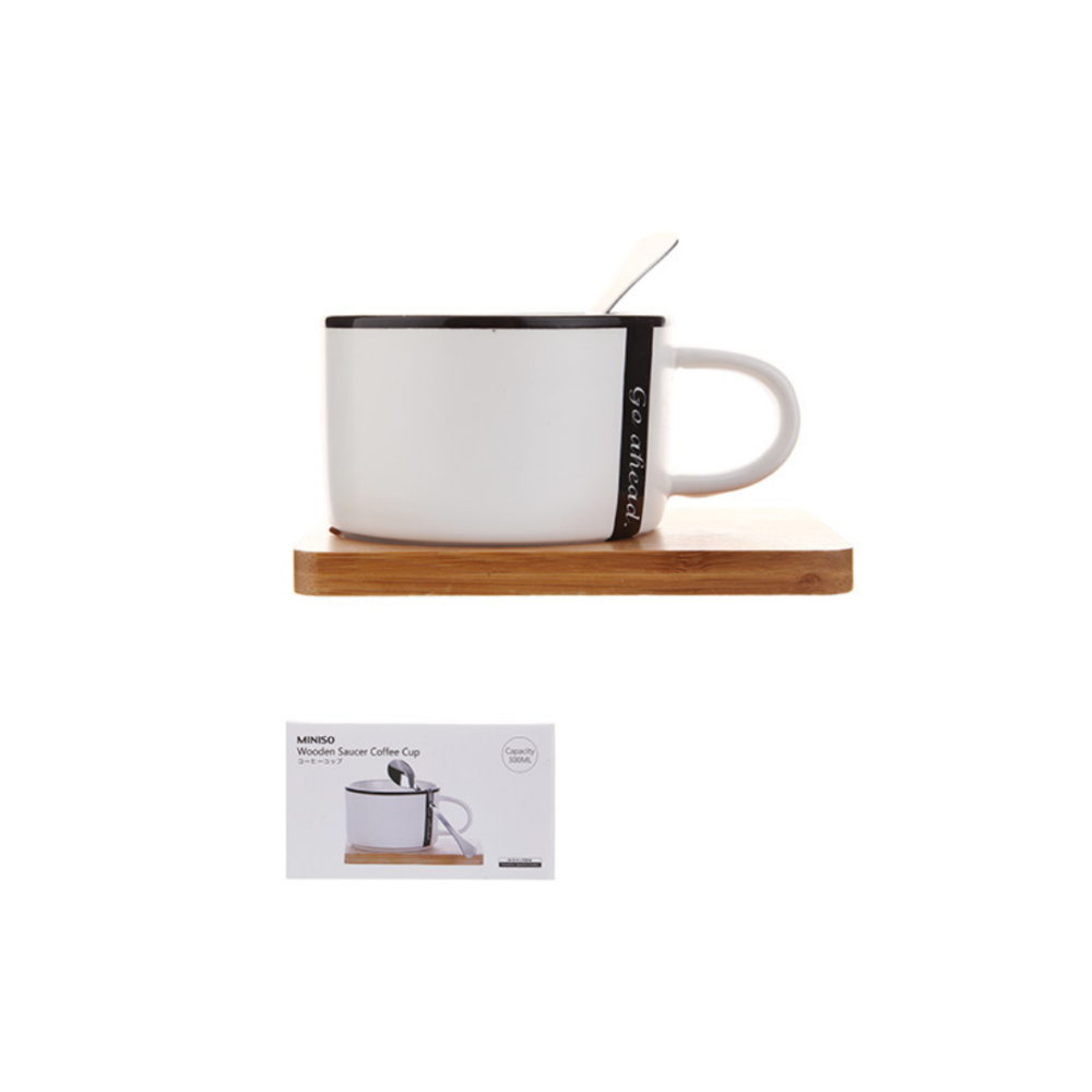 Wooden Coaster Coffee Cup