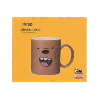 We Bare Bears Ceramic Mug with Silicone Bear Cover-Grizzly