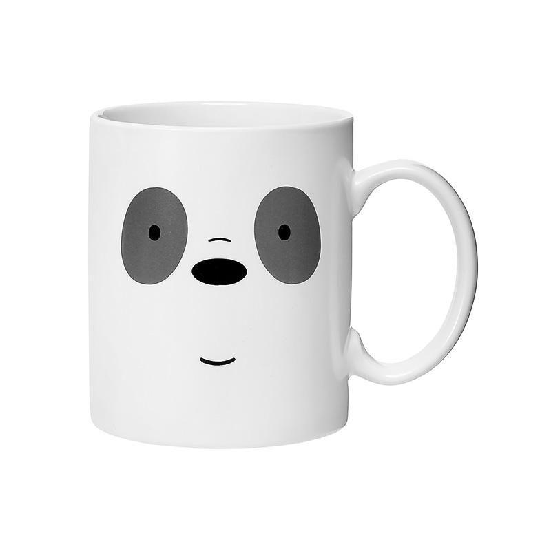 We Bare Bears Ceramic Mug with Silicone Panda Cover-Panda