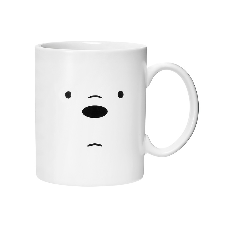 We Bare Bears Ceramic Mug with Silicone Bear Cover-Ice Bear