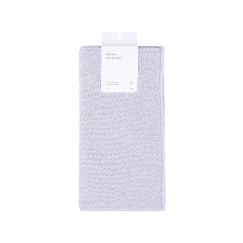 Dishcloth 5 Pack (Beige + Grey)