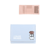 We Bare Bears-Embossed Tri-Fold Wallet-Blue