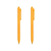 Retractable Gel Pen 0.7mm (Light Orange Barrel, Yellow Ink)