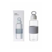 High Borosilicate Glass Water Bottle 420ml-Grey