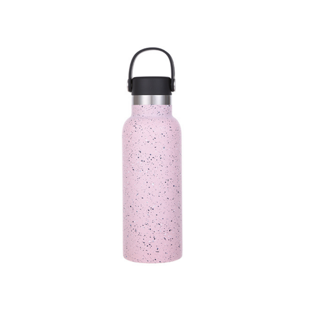 Steel Tumbler with Silicone Handle 500ml - Pink