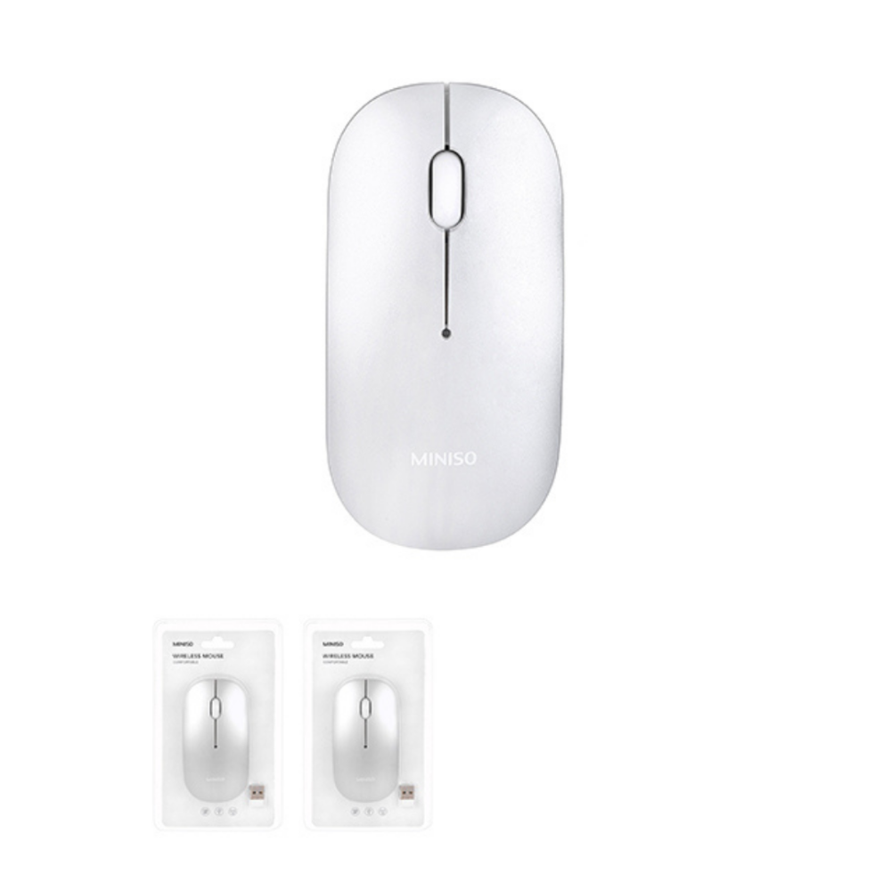 Metallic Wireless Mouse-Silver