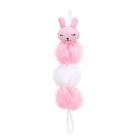 Pink Rabbit Elongated Bath Sponge