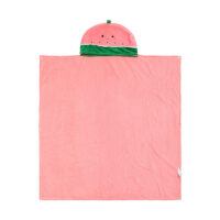 Fruit Series Leisure Blanket With Hat (Watermelon)