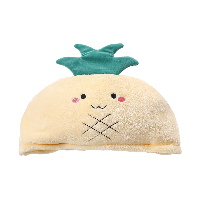 Fruit Series Leisure Blanket with Hat (Pineapple)