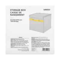 Storage Box With Lid (Grey)