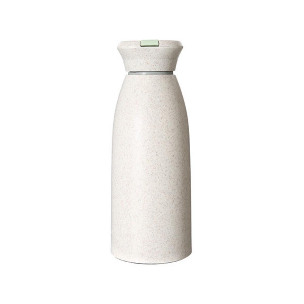 Glass Water Bottle with Flexible Handle 350ml (Beige)