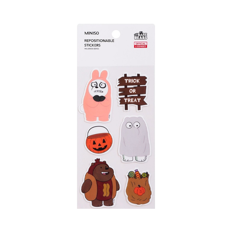 We Bare Bears Repositionable Stickers