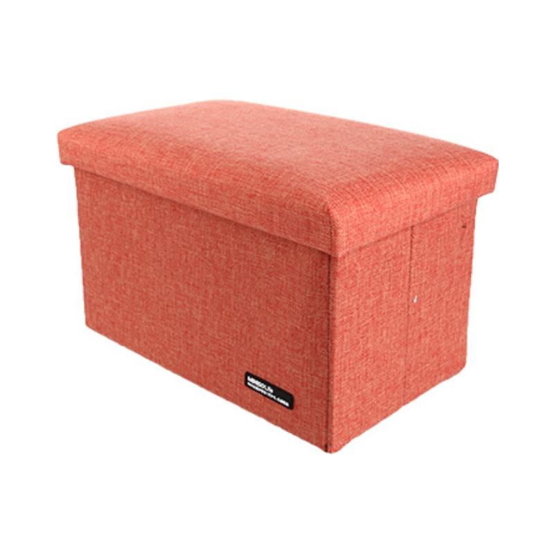 Foldable Storage Stool (Orange)