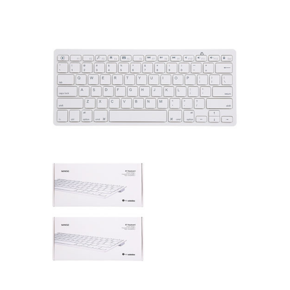 Wireless BT keyboard-white