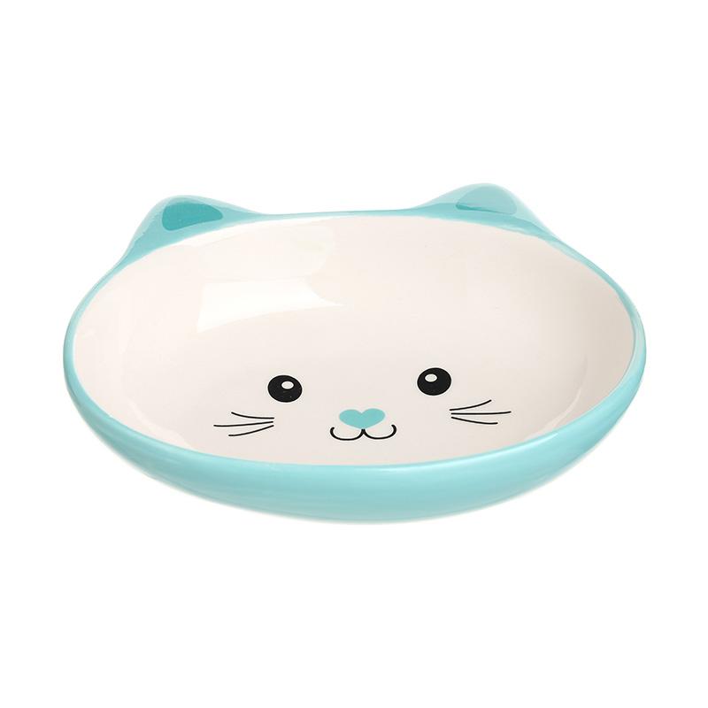 Cute Cat-shaped Ceramic Bowl