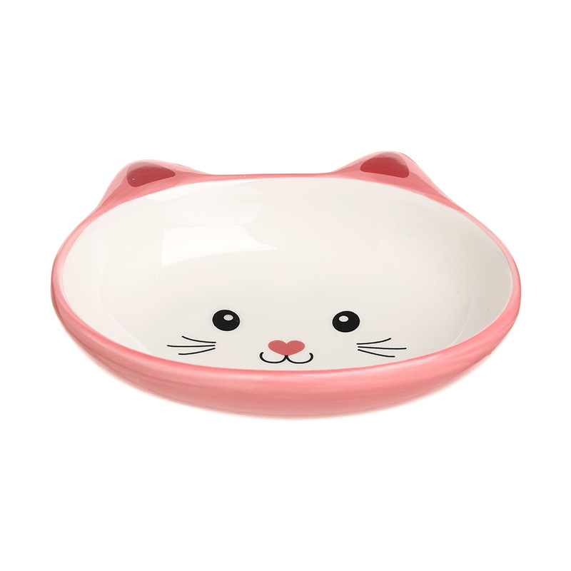 Cute Cat-shaped Ceramic Bowl