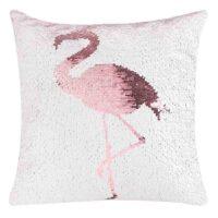 Sequins Cushion Flamingo