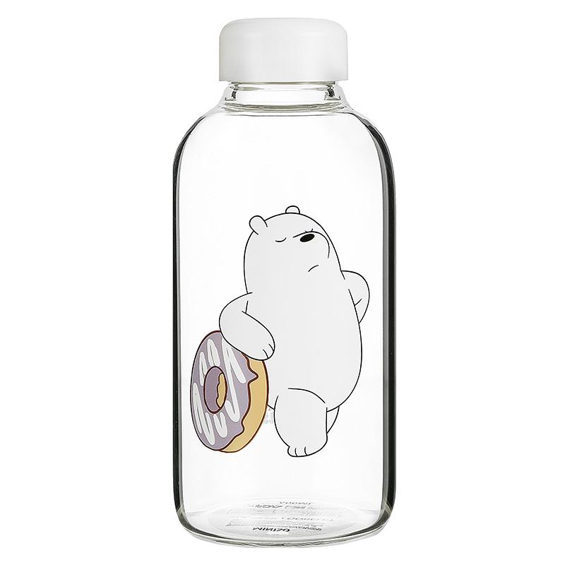We Bare Bears-Pot-bellied Glass Bottle