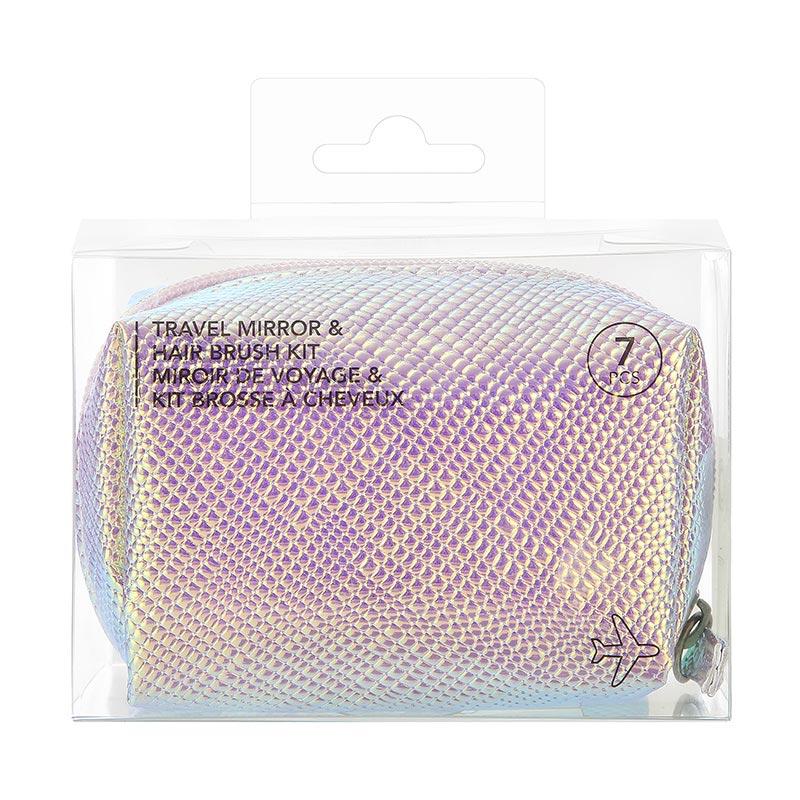 Travel Mirror & Hair Brush Kit
