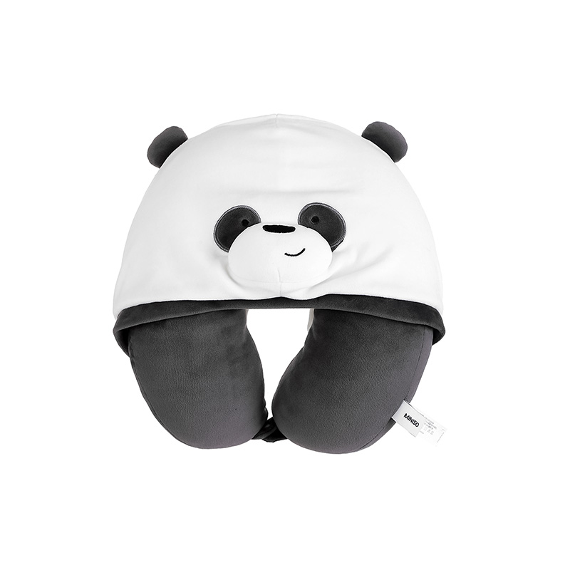 We Bare Bears U-shaped Pillow with Hood
