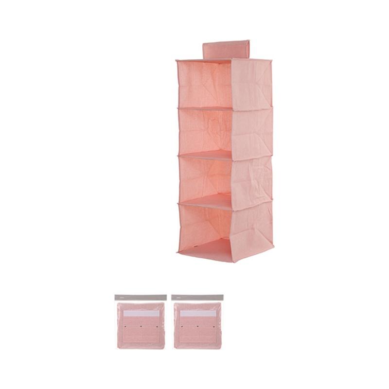4-Shelf Hanging Organizer (Pink)