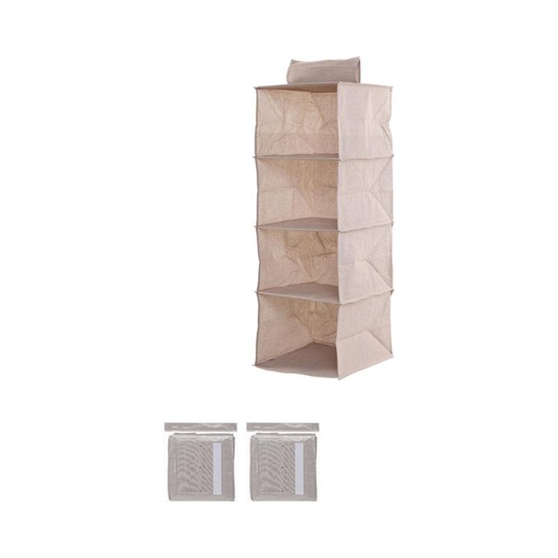 4-Shelf Hanging Organizer (Grey)