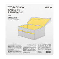 Storage Box With Lid Small (Grey)