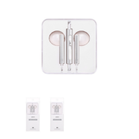 Wire Control In-ear Earphones with Mic (Silver)