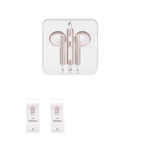 Wire Control In-ear Earphones with Mic (Gold)