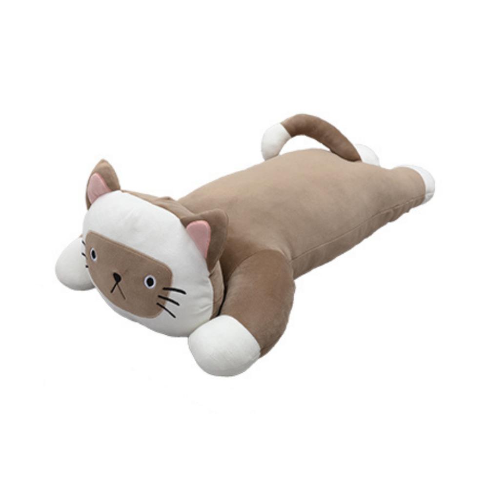 Lying Brown Cat Plush Toy (Large)
