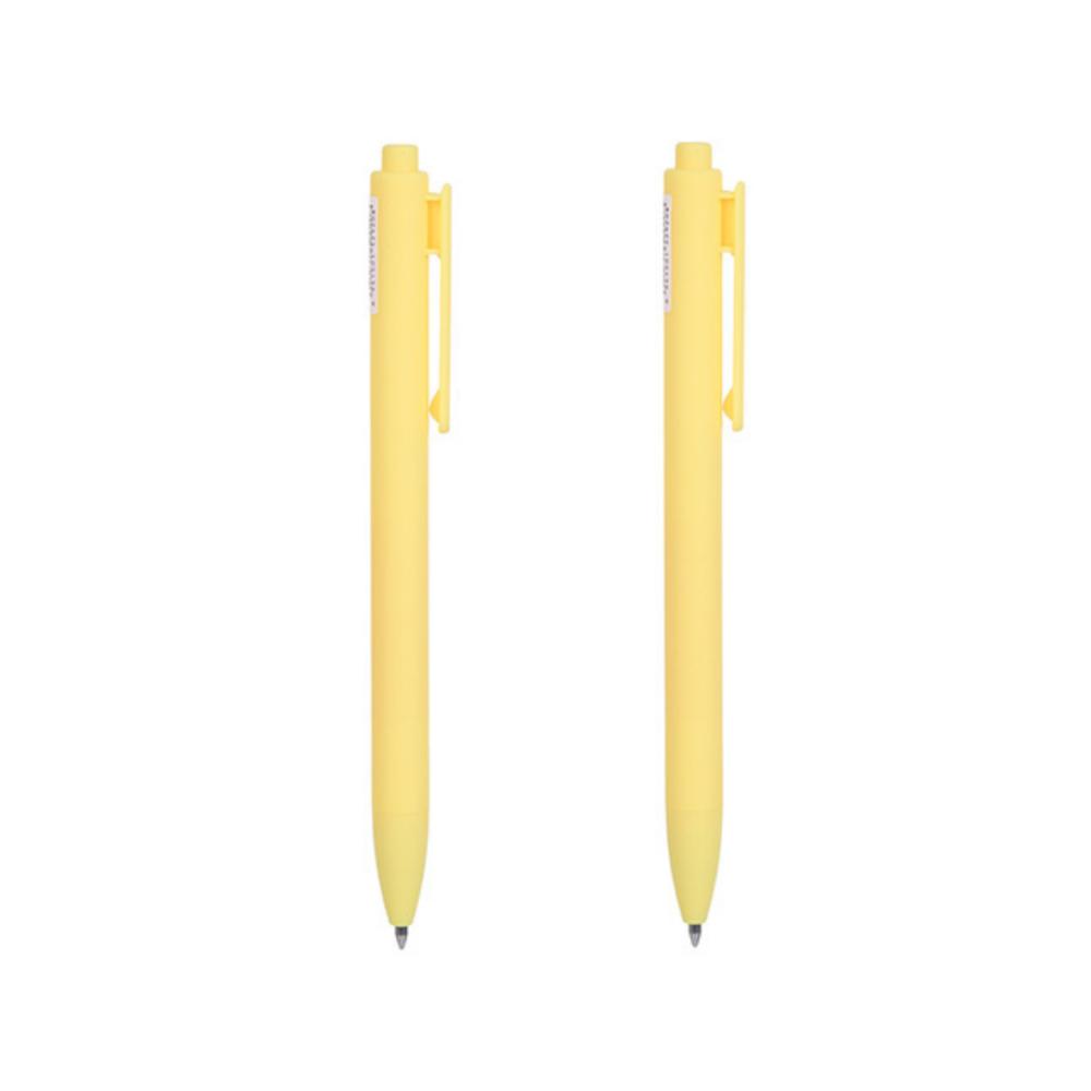 Retractable Gel Pen 0.7mm (Yellow Barrel, Yellow Ink)