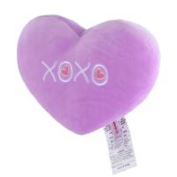 Heart Shaped Cushion Violet