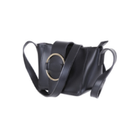Metal Ring Crossbody Bag (Black)