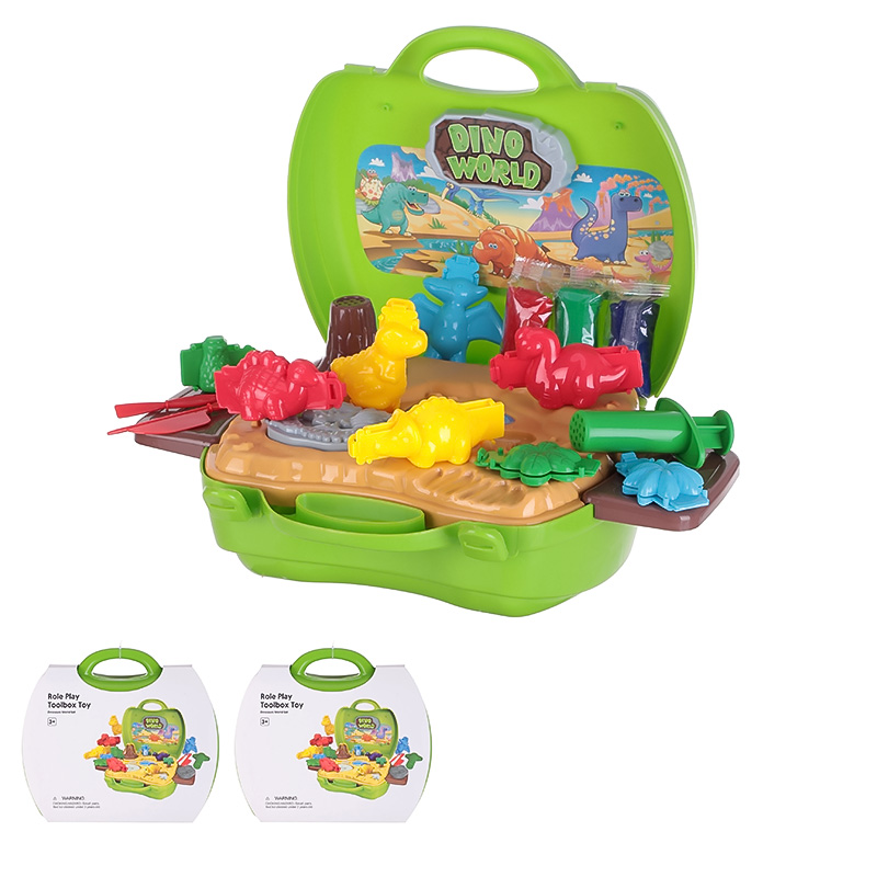 Role Play Toolbox Toy - Dinosaurs World Set