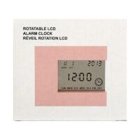 Rotatable LCD Alarm Clock (Pink)