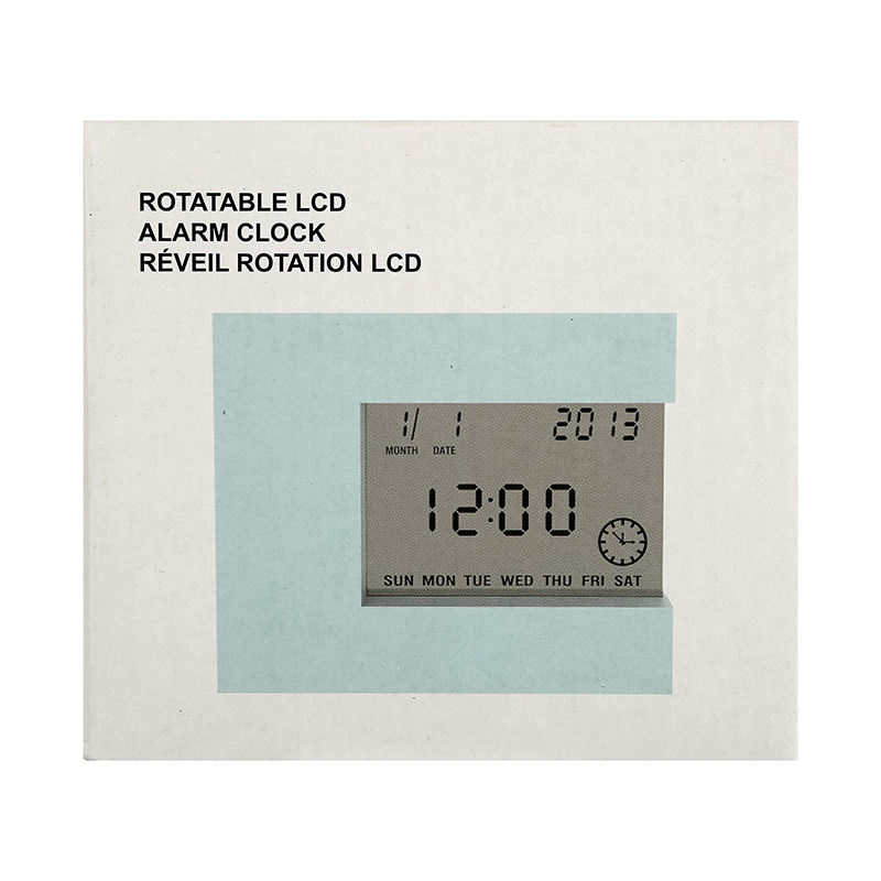 Rotatable LCD Alarm Clock (Blue)