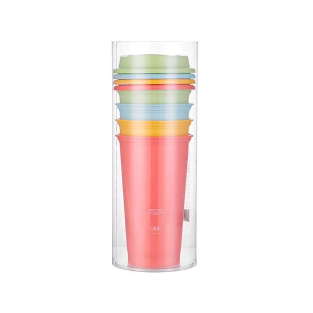 Simple Plastic Travel Cup 4 Pack