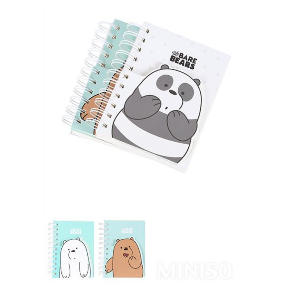 We Bare Bears Wire Bound Book With Notepad